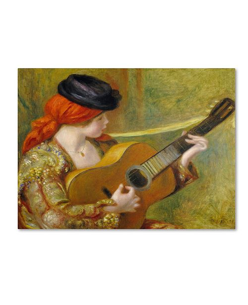 """Trademark Global Pierre Auguste Renoir 'Young Spanish Woman With a Guitar' Canvas Art - 24"""" x 18"""""""