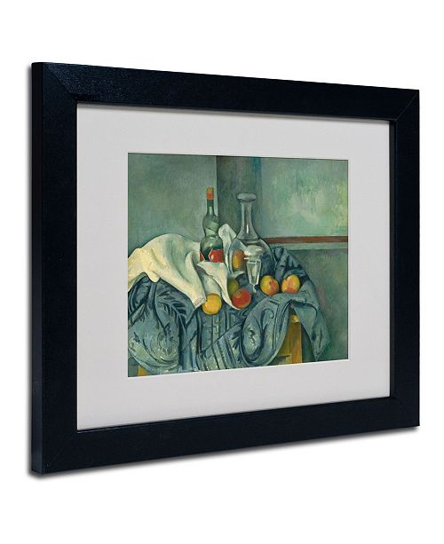 "Trademark Global Paul Cezanne 'The Peppermint Bottle' Matted Framed Art - 14"" x 11"""