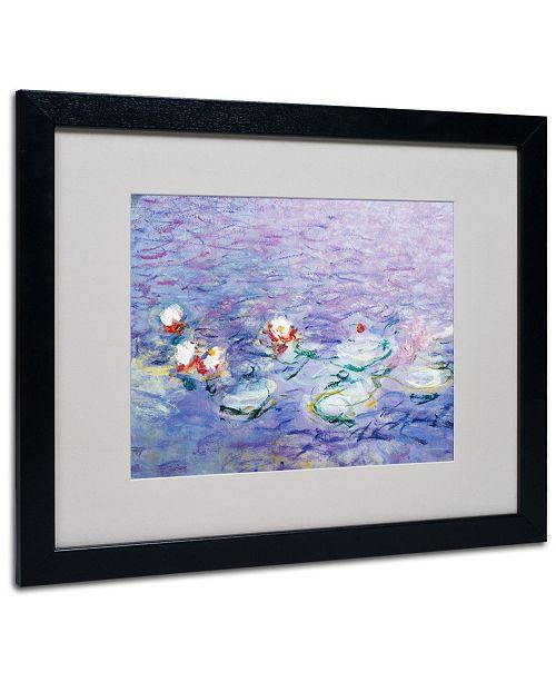 """Trademark Global Claude Monet 'Water Lilies II 1840-1926' Matted Framed Art - 20"""" x 16"""""""