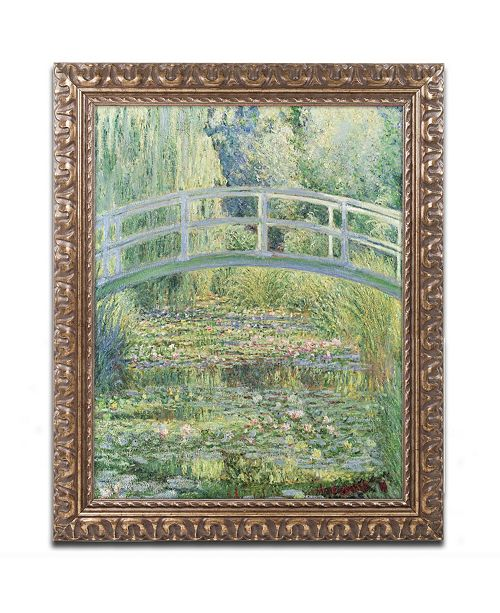 """Trademark Global Claude Monet 'The Water Lily Pond, 1899' Ornate Framed Art - 14"""" x 11"""""""