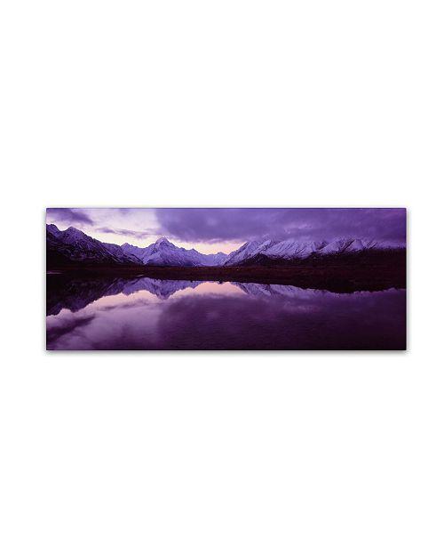 "Trademark Global David Evans 'Mount Cook from Tasman River-NZ' Canvas Art - 19"" x 6"""