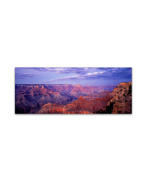 "Trademark Global David Evans 'The Grand Canyon' Canvas Art - 19"" x 6"""