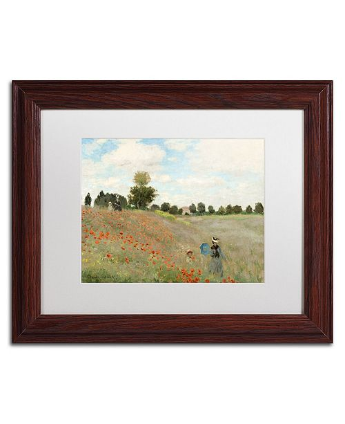 "Trademark Global Claude Monet 'Wild Poppies Near Argenteuil' Matted Framed Art - 14"" x 11"""