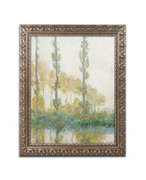 "Trademark Global Claude Monet 'The Three Trees Autumn' Ornate Framed Art - 16"" x 20"""
