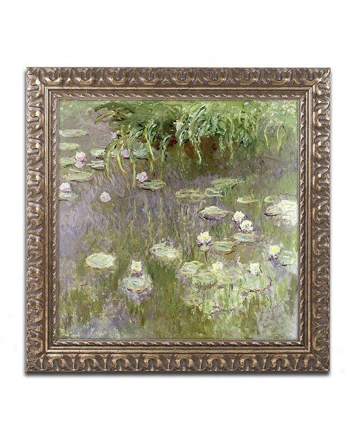 "Trademark Global Monet 'Waterlilies at Midday' Ornate Framed Art - 16"" x 16"""