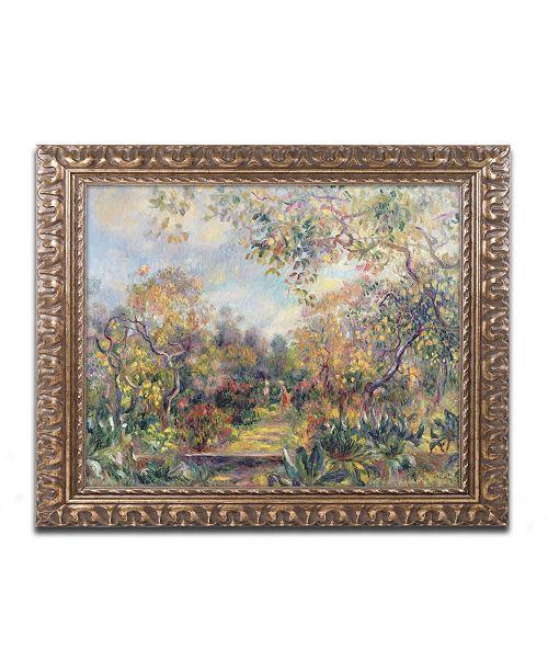 "Trademark Global Pierre Auguste Renoir 'Landscape at Beaulieu' Ornate Framed Art - 16"" x 20"""