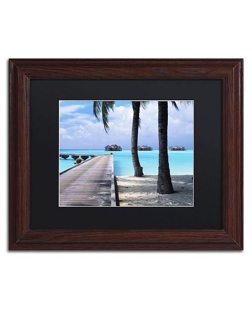 """Trademark Global David Evans 'Pathway to Paradise' Matted Framed Art - 11"""" x 14"""""""