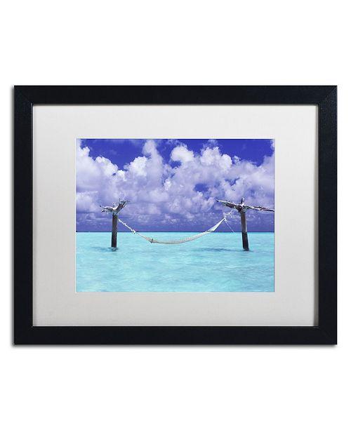 "Trademark Global David Evans 'The Hammock 3' Matted Framed Art - 16"" x 20"""