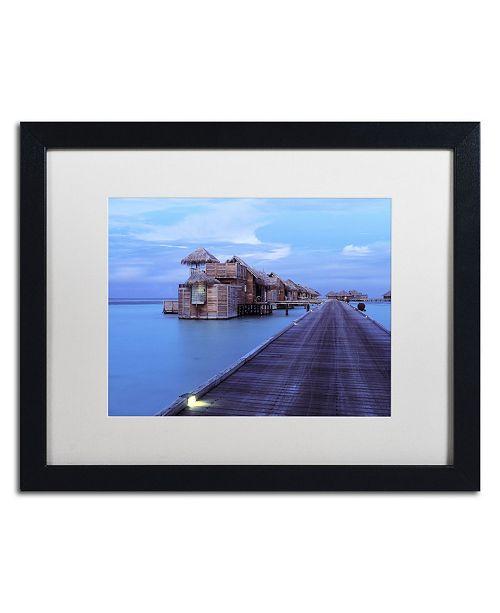 "Trademark Global David Evans 'Twilight-Gili Lankanfushi' Matted Framed Art - 16"" x 20"""