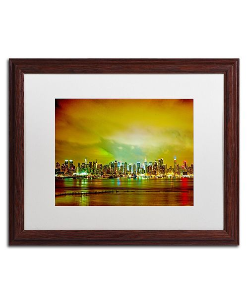 "Trademark Global Preston 'City Skyline' Matted Framed Art - 16"" x 20"""