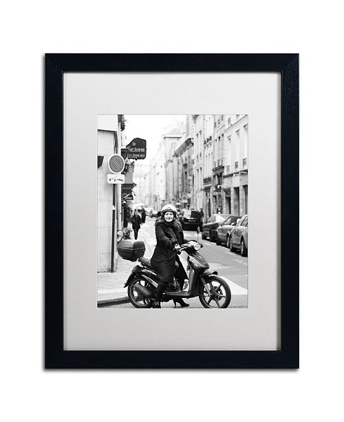 "Trademark Global Preston 'Lady in Paris' Matted Framed Art - 16"" x 20"""