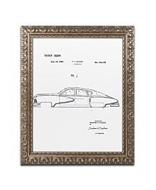 """Claire Doherty 'Tucker Sedan Patent 1949 White' Ornate Framed Art - 16"""" x 20"""""""