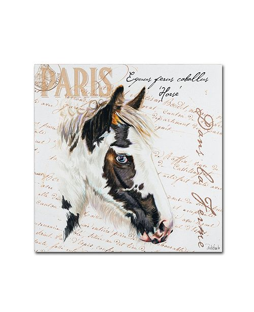 "Trademark Global Jennifer Redstreake 'Dans la Ferme Horse' Canvas Art - 35"" x 35"""