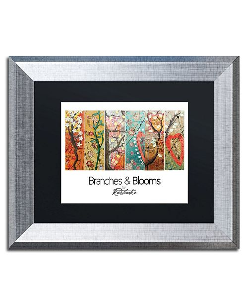 "Trademark Global Jennifer Redstreake 'Branches and Blooms' Matted Framed Art - 11"" x 14"""
