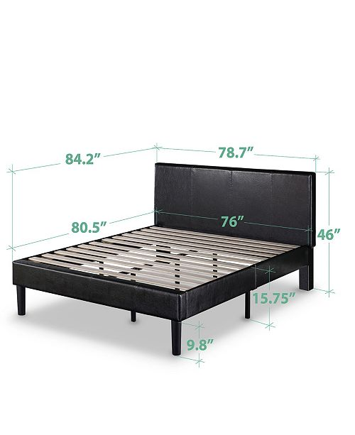 86a7ece9d067 ... Zinus Gerard Deluxe Faux Leather Upholstered Platform Bed / Wood Slat  Support, King ...