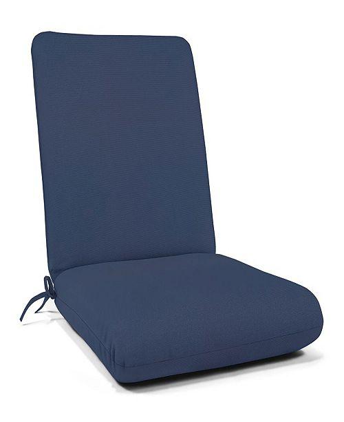 """Casual Cushion Sunbrella 44"""" Hinged Club Cushion"""