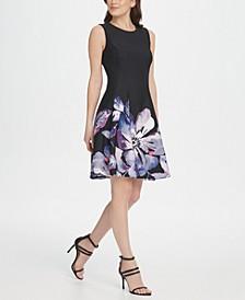 Floral Scuba Fit & Flare Dress