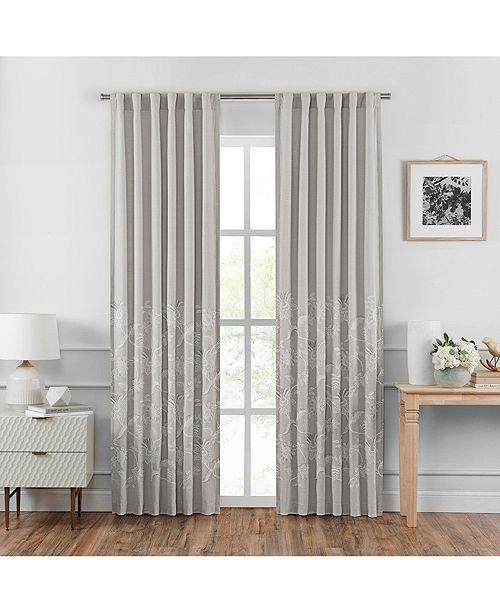 """Croscill Penelope 84"""" Back Tab Curtain Panel Pair"""