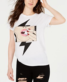 GUESS Diamond-Lips Graphic T-Shirt