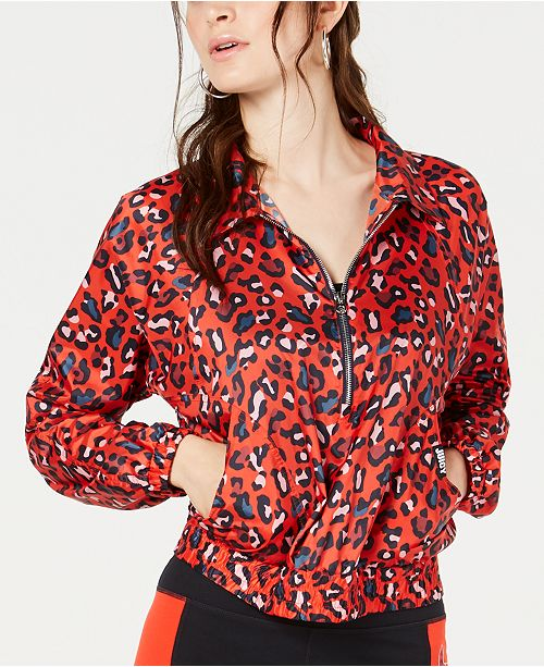 Juicy Couture Leopard-Print Track Jacket