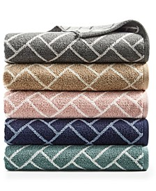 Block Geo 100% Cotton Bath Towel Collection, Created for Macy's