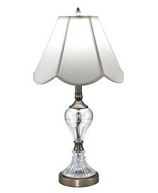 Dale Tiffany Aegis 24% Lead Hand Cut Crystal Table Lamp