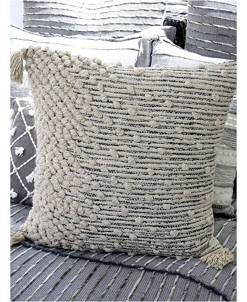 """Chicos Home Ombre Dots Throw Pillow 20"""" x 20"""" for Couch Handloom Woven"""