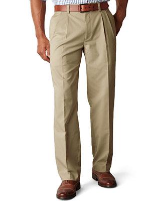 Dockers Classic Fit Easy Khaki Pants Pleated D3