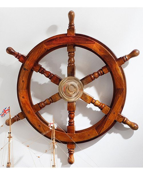 "St. Croix KINDWER 24"" Wooden Ships Wheel"