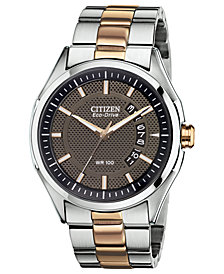 Citizen Men's Drive from Citizen Eco-Drive Two-Tone Stainless Steel Bracelet Watch 40mm AW1146-55H