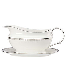 Lenox Pearl Platinum Gravy Boat and Stand