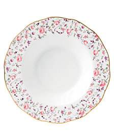 Royal Albert Rose Confetti Rim Soup Bowl