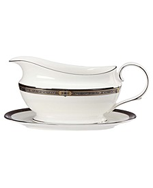 Vintage Jewel Gravy Boat and Stand