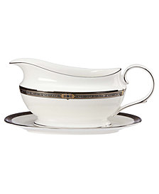 Lenox Vintage Jewel Gravy Boat and Stand