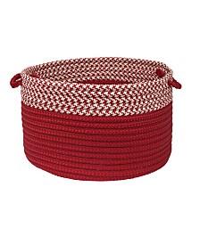 Houndstooth Dipped Braided Storage Basket