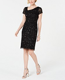 Hand-Beaded Sheath Dress