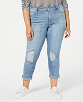 8a776ad55a3283 Celebrity Pink Trendy Plus Size Ripped Girlfriend Jeans