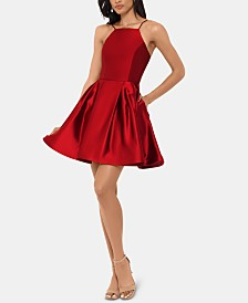 Betsy & Adam Halter-Neck Fit & Flare Dress
