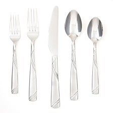 Cambridge Tabitha Sand Pebble 30-Piece Flatware Set, Service for 6
