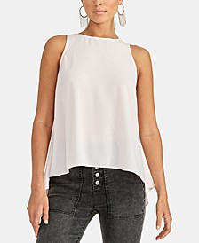 Raeni Draped-Back Sleeveless Top