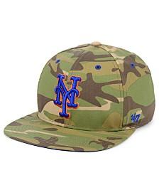 '47 Brand New York Mets Blockade Strapback Cap