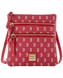 Dooney & Bourke Boston Red Sox North South Triple Zip Purse