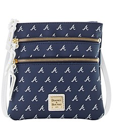 Atlanta Braves North South Triple Zip Purse