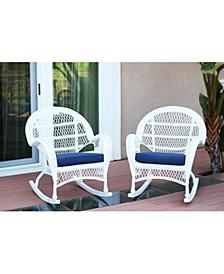 Santa Maria Wicker Rocker Chair with Cushion - Set of 4