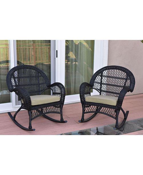 Jeco Santa Maria Wicker Rocker Chair