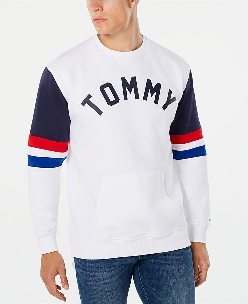 Tommy Hilfiger Men's Colorblock Logo Sweatshirt