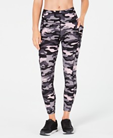 Calvin Klein Performance Camo-Print High-Waist Leggings