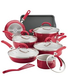 Rachael Ray Create Delicious Aluminum Nonstick 13-Pc. Cookware Set