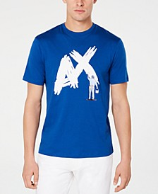 Men's Textured Paint Logo T-Shirt
