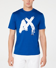 A|X Armani Exchange Men's Textured Paint Logo T-Shirt